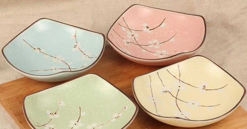 Fruit-salad-dessert-ceramic-bowl-restaurant-rice-dish-sashimi-plate-bowl-soup-dish-deep-dish-square